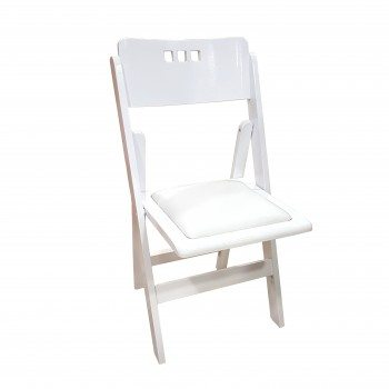 Wooden white folding chair